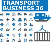 36 transport business icons.vector