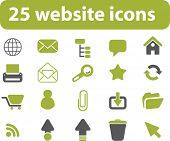 25 website signs. vector.
