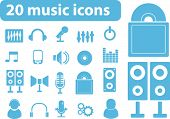 20 music icons. vector.