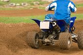 Close Up Of Atv Bike Cornering