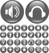 media player buttons. vector