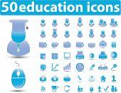 Постер, плакат: 50 образования иконки вектор