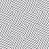 Vector Monochrome Geometric Seamless Pattern With Diagonal Stripes, Lines, Square Tiles. Gray And Wh poster