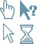 blue cursors. vector