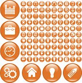 100 grand buttons. vector