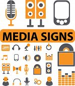 media signs. vector