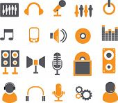 music signs. vector