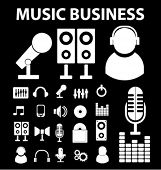 20 music business signs. vector