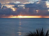 Sun Setting In St Lucia