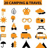 20 camping & travel signs