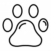Pet Paw Icon. Outline Pet Paw Vector Icon For Web Design Isolated On White Background poster