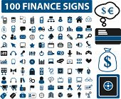 100 muestras de finanzas. Vector