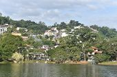 Scenic View Of Kandy City In Sri Lanka.kandy Is Surrounded By Mountains.the Citys Heart Is Scenic K poster