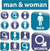 man & woman signs. vector