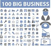 100 big professional business signs. vector