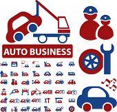 mega auto business signs. vector