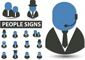 professional people signs. vector