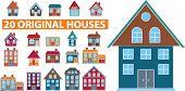 20 cute houses.vector