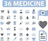 36 medicine signs. vector