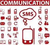 red communication signs. vector