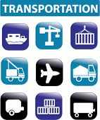 transportation buttons. vector