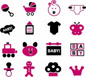 baby & child icons, vector