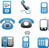phone icons, vector