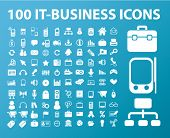 100 ícones do it-business, vetor