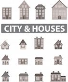 city & houses, vector