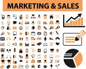 marketing & sales icons, signs, vector illustrations