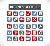 business & office buttons, vector