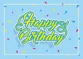 Happy Birthday Cheerful Bright Background. Abstract Birthday Party Happiness. Colorful Sparkling Bac poster