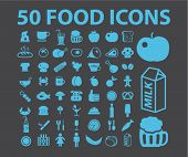 stock photo of chinese menu  - 50 food icons - JPG