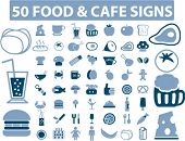 food icons set, signs, vector