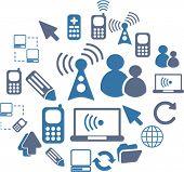Kommunikation Icons Set, Vektorgrafiken
