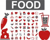 food icons set, vector