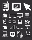 Los iconos de conexión móvil de Internet, vector