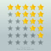 Five Stars Rate Row Collection, Rank Status Elements, Statistic Review, Rating Chart. poster