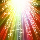 Sparkling star burst