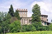 Castle of Montechiaro. Rivergaro. Emilia-Romagna. Italy.