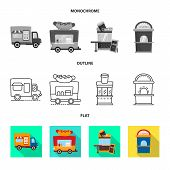 Vector Illustration Of Amusement And Store Symbol. Collection Of Amusement And Urban Vector Icon For poster