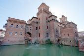 Castello Estense in Ferrara, Italien