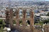 View Of Wall Of Odeon Of Herodes Atticus