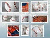 Baseball And Glove Collage