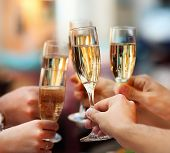 stock photo of champagne glasses  - Celebration - JPG