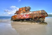 Old Tank At Flamenco Beach
