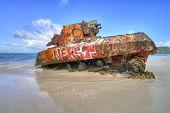 Old Tank At Flamenco Beach