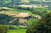 Panoramic view of Pellegrino Parmense. Emilia-Romagna. Italy.