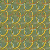 A Geometric Sand-Green Seamless Background