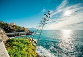 View Of Bogliasco. Bogliasco Is A Ancient Fishing Village In Italy